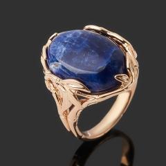 Кольцо содалит Бразилия (серебро 925 пр. позолота) размер 17,5