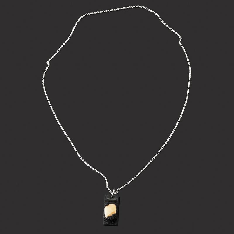 Кулон яшма мукаит (сталь хир., глина полимерная) прямоугольник огранка