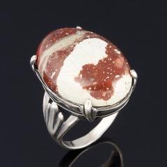 Кольцо яшма уральская Россия (серебро 925 пр. оксидир.) размер 18,5
