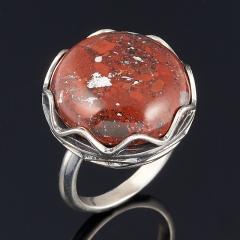 Кольцо яшма уральская Россия (серебро 925 пр. оксидир.) размер 17,5