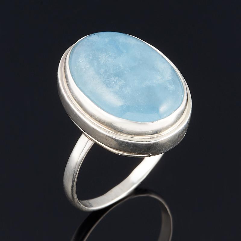 Кольцо аквамарин (серебро 925 пр.) размер 18,5