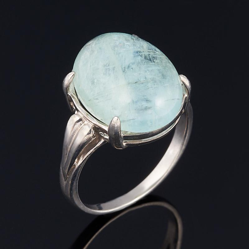 Кольцо аквамарин (серебро 925 пр.) размер 17