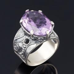 Кольцо аметист Бразилия (серебро 925 пр. оксидир.) огранка размер 18,5