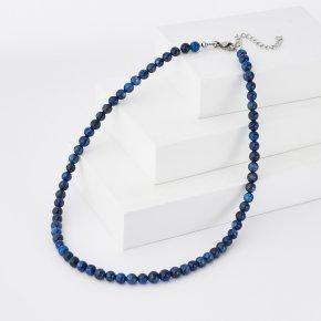 Бусы кианит синий Бразилия (биж. сплав) 6 мм 40 см (+4 см)