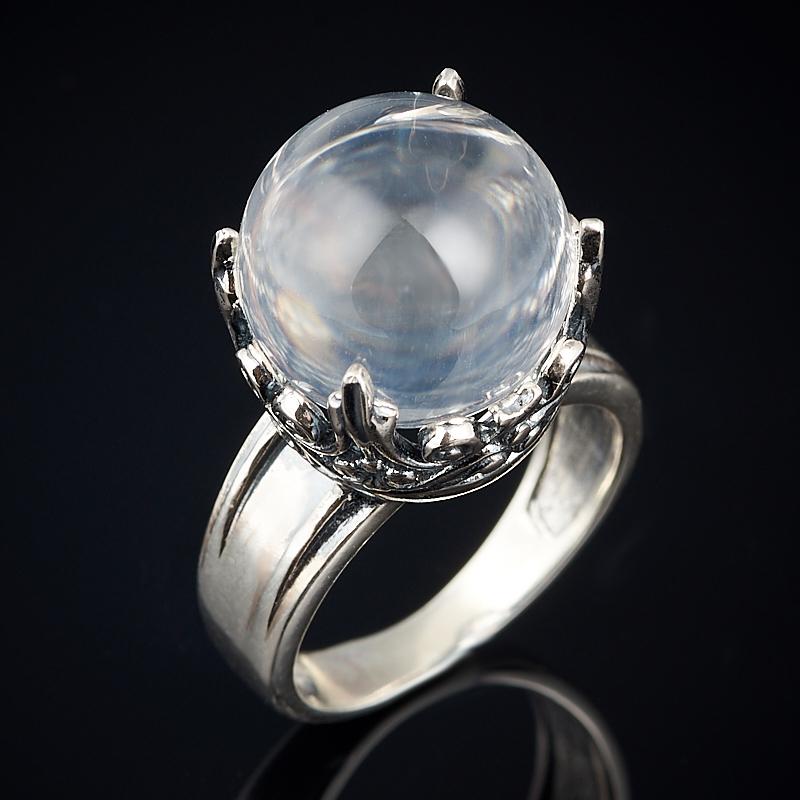 Кольцо горный хрусталь Бразилия (серебро 925 пр. оксидир.) размер 18