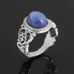 Кольцо кианит синий Бразилия (серебро 925 пр. родир. бел.) размер 16