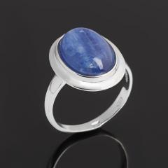 Кольцо кианит синий Бразилия (серебро 925 пр. родир. бел.) размер 17,5