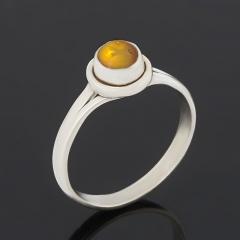 Кольцо опал благородный желтый Эфиопия (серебро 925 пр. оксидир.) размер 16,5