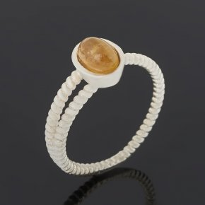 Кольцо турмалин желтый (дравит) Бразилия (серебро 925 пр.) размер 18