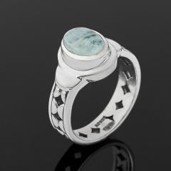 Кольцо аквамарин Бразилия (серебро 925 пр.) размер 16,5
