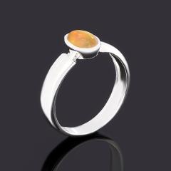 Кольцо опал благородный желтый Эфиопия (латунь посеребр.) размер 16,5