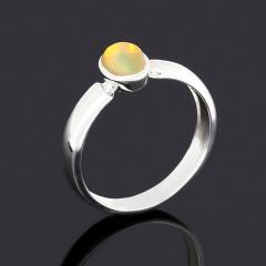Кольцо опал благородный желтый Эфиопия (латунь посеребр.) размер 18