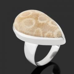 Кольцо коралл Индонезия (серебро 925 пр.) размер 17