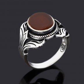 Кольцо сердолик Ботсвана (серебро 925 пр. оксидир.) размер 19,5