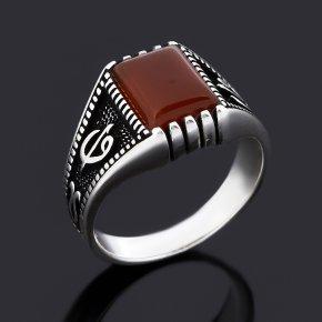 Кольцо сердолик Ботсвана (серебро 925 пр. оксидир.) размер 18,5