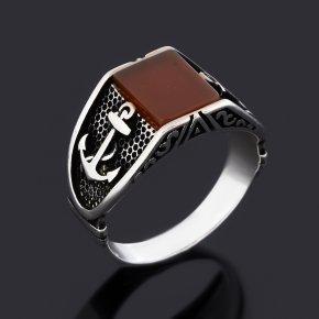 Кольцо сердолик Ботсвана (серебро 925 пр. оксидир.) размер 20,5