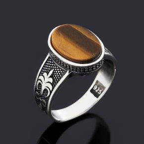 Кольцо тигровый глаз ЮАР (серебро 925 пр. оксидир.) размер 19,5