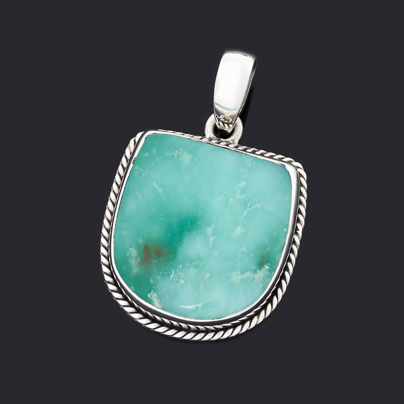 Кулон хризопраз (серебро 925 пр. оксидир.)