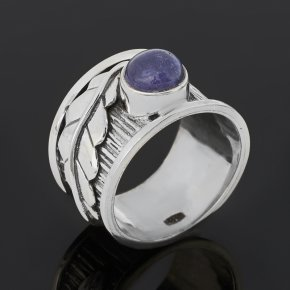 Кольцо танзанит Танзания (серебро 925 пр. оксидир.) размер 17