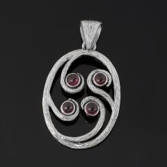 Кулон турмалин розовый (рубеллит) Бразилия (серебро 925 пр. оксидир.) овал
