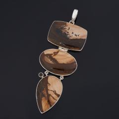 Кулон яшма рисунчатая (песочная) Египет (серебро 925 пр.)