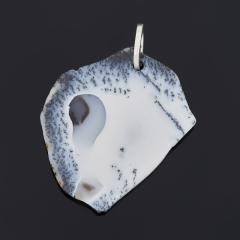 Кулон агат пейзажный Индия (серебро 925 пр.)