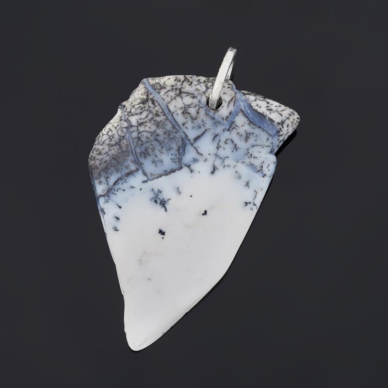 Кулон агат пейзажный (серебро 925 пр.)