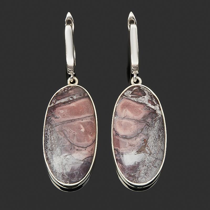 Серьги яшма мраморная (серебро 925 пр.)
