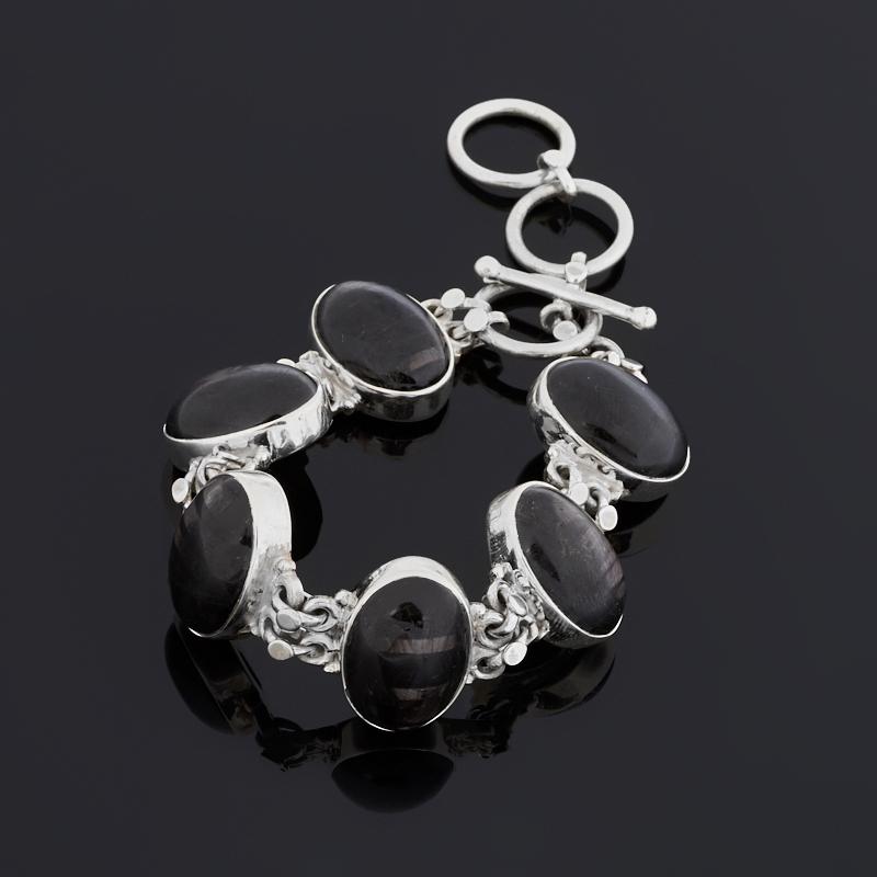 Браслет гиперстен (серебро 925 пр.) 15 см (+4 см)