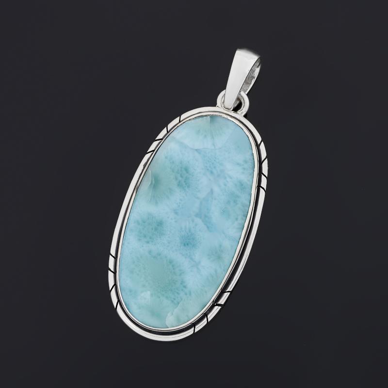 Кулон ларимар нская Республика (серебро 925 пр. оксидир.) овал