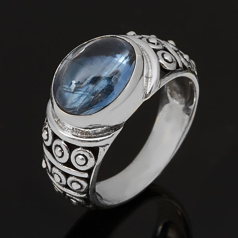 Кольцо кианит синий (серебро 925 пр. оксидир.) размер 17 фото