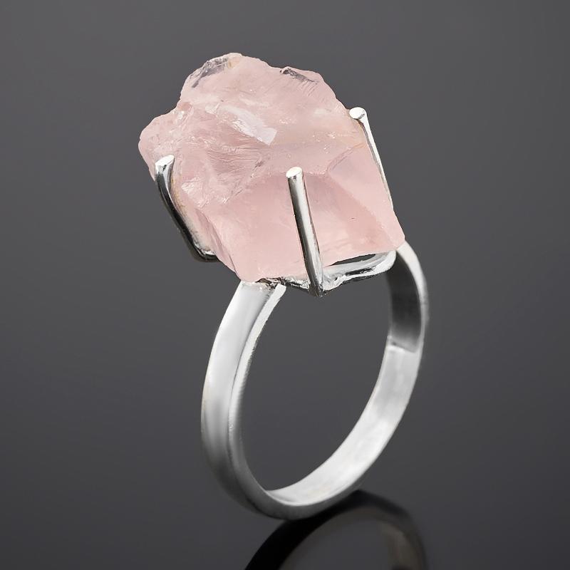 Кольцо берилл розовый (морганит) Бразилия (серебро 925 пр.) размер 18
