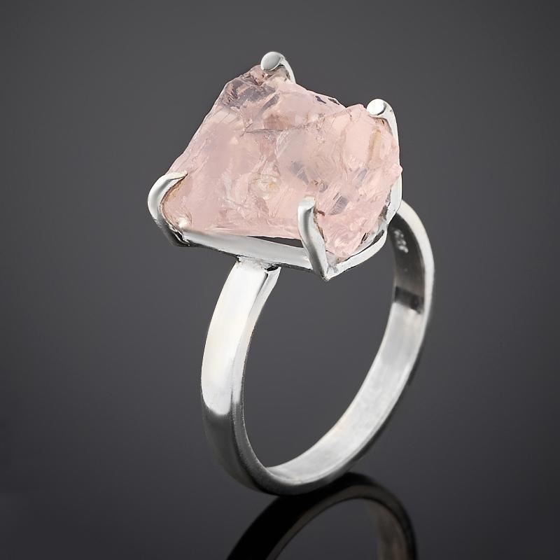 Кольцо берилл розовый (морганит) Бразилия (серебро 925 пр.) размер 18,5