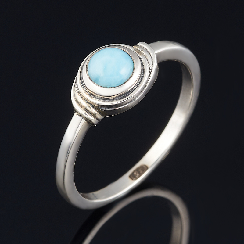 Кольцо ларимар нская Республика (серебро 925 пр.) размер 18