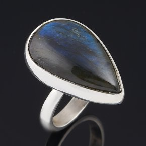 Кольцо лабрадор Мадагаскар (серебро 925 пр.) размер 17 (регулируемый)