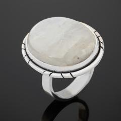 Кольцо лунный камень (адуляр) Индия (серебро 925 пр. оксидир.) размер 16,5