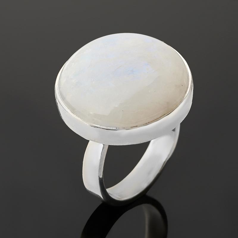 Кольцо лунный камень (адуляр) (серебро 925 пр.) размер 18,5