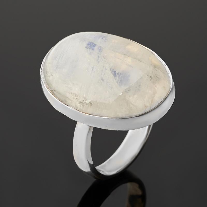 Кольцо лунный камень (адуляр) (серебро 925 пр.) (регулируемый) размер 17,5
