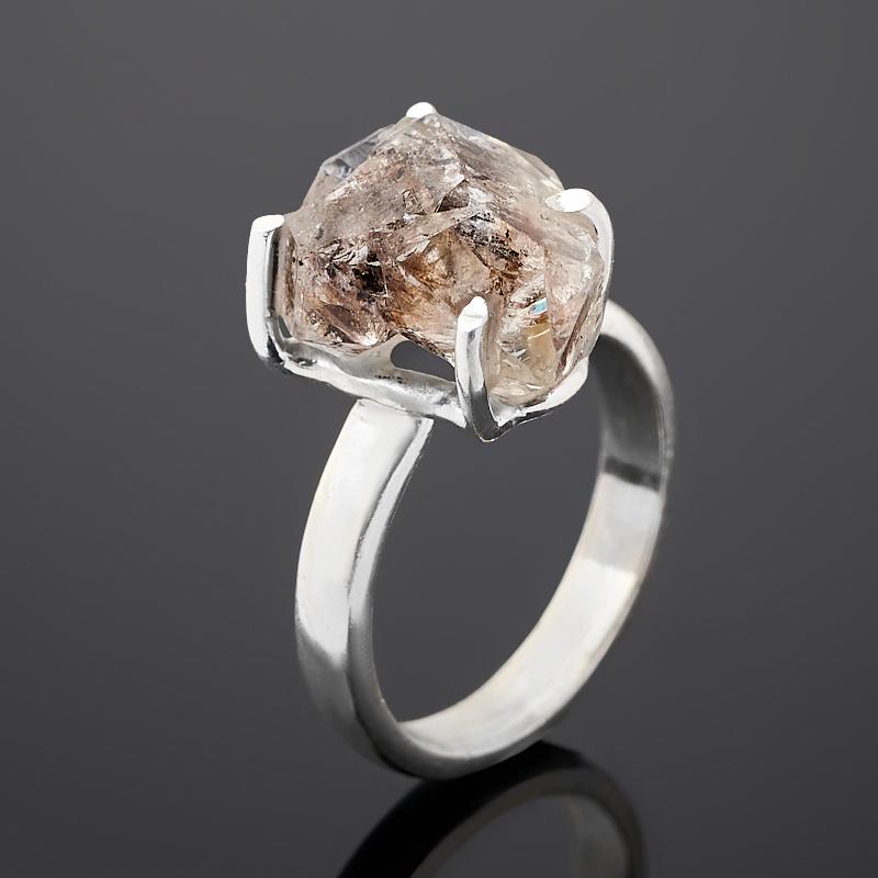Кольцо кварц с хлоритом (серебро 925 пр.) размер 16,5