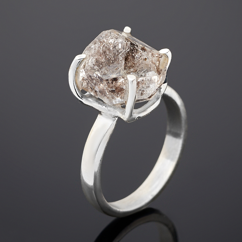 Кольцо кварц с хлоритом (серебро 925 пр.) размер 17