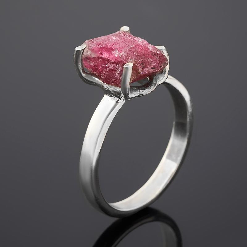 Кольцо турмалин розовый (рубеллит)  (серебро 925 пр.) размер 17