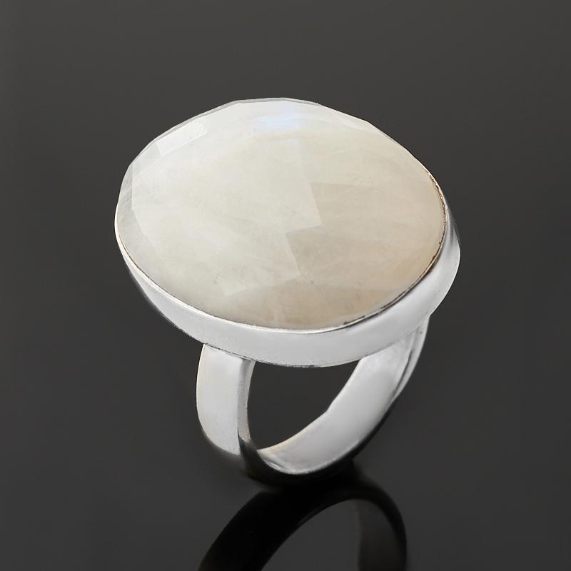Кольцо лунный камень (адуляр) (серебро 925 пр.) огранка (регулируемый) размер 17