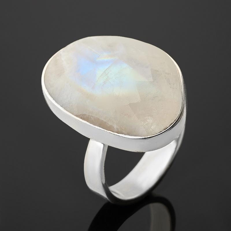 Кольцо лунный камень (адуляр) (серебро 925 пр.) огранка размер 17,5