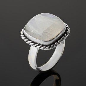 Кольцо лунный камень (адуляр) Индия (серебро 925 пр. оксидир.) (регулируемый) размер 18