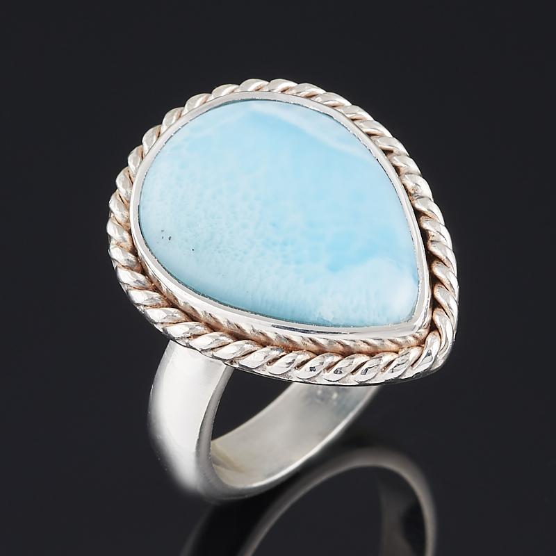 Кольцо ларимар нская Республика (серебро 925 пр.) (регулируемый) размер 18