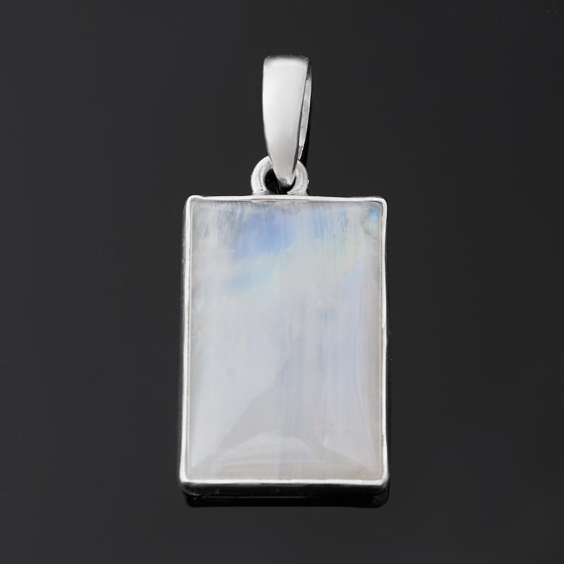 Кулон лунный камень (адуляр) (серебро 925 пр.) прямоугольник