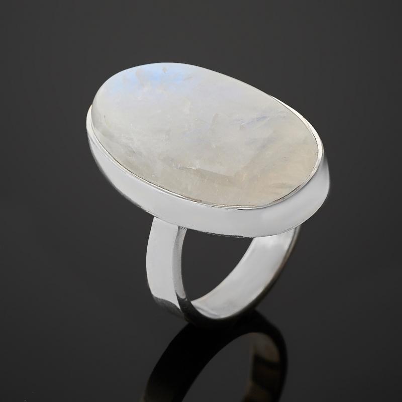 Кольцо лунный камень (адуляр) Индия (серебро 925 пр.) размер 17