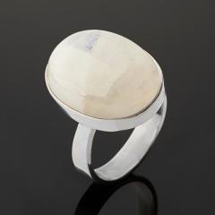 Кольцо лунный камень (адуляр) Индия (серебро 925 пр.) размер 18,5
