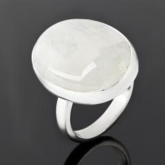 Кольцо лунный камень (адуляр) Индия (серебро 925 пр.) (регулируемый) размер 17,5