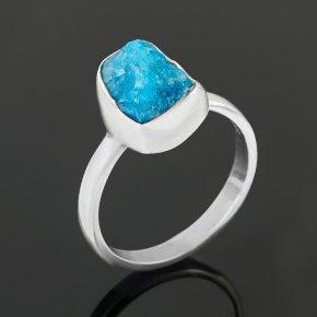 Кольцо апатит синий Бразилия (серебро 925 пр.) размер 18